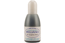 Order a 1/2 oz. bottle of refill ink for a Brilliance Metallic Graphite Black stamp pad.