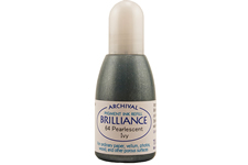 Order a 1/2 oz. bottle of refill ink for a Brilliance Metallic Ivy stamp pad.