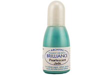 Order a 1/2 oz. bottle of refill ink for a Brilliance Metallic Jade stamp pad.