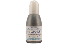 Order a 1/2 oz. bottle of refill ink for a Brilliance Metallic Starlite Black stamp pad.