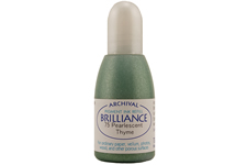 Order a 1/2 oz. bottle of refill ink for a Brilliance Metallic Thyme stamp pad.