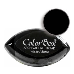 "Purchase a vibrant and archival wicked black Colorbox stamp pad. Over 5 colors available!  Non-toxic, archival, acid free, permanent ink pad.  3/4"" x 1.5"""