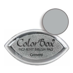 "Purchase a vibrant and creamy cement Colorbox stamp pad. Over 80 colors available!  Non-toxic, archival, acid free, water-soluble pigment ink.  3/4"" x 1.5"""