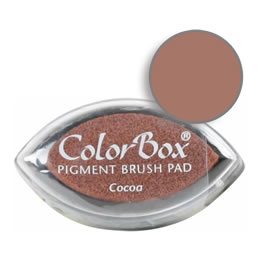 "Purchase a vibrant and creamy cocoa Colorbox stamp pad. Over 80 colors available!  Non-toxic, archival, acid free, water-soluble pigment ink.  3/4"" x 1.5"""