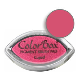 "Purchase a vibrant and creamy cupid Colorbox stamp pad. Over 80 colors available!  Non-toxic, archival, acid free, water-soluble pigment ink.  3/4"" x 1.5"""