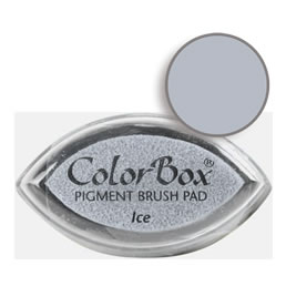 "Purchase a vibrant and creamy ice Colorbox stamp pad. Over 80 colors available!  Non-toxic, archival, acid free, water-soluble pigment ink.  3/4"" x 1.5"""