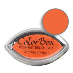"Purchase a vibrant and creamy mango tango Colorbox stamp pad. Over 80 colors available!  Non-toxic, archival, acid free, water-soluble pigment ink.  3/4"" x 1.5"""