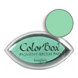 "Purchase a vibrant and creamy seaglass Colorbox stamp pad. Over 80 colors available!  Non-toxic, archival, acid free, water-soluble pigment ink.  3/4"" x 1.5"""