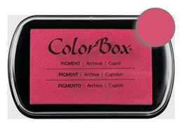 "Purchase a vibrant and creamy cupid Colorbox stamp pad. Over 80 colors available!  Non-toxic, archival, acid free, water-soluble pigment ink.  1.8"" x 2.9"""