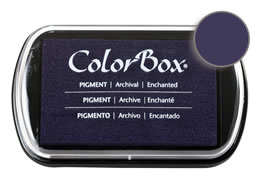 "Purchase a vibrant and creamy enchanted Colorbox stamp pad. Over 80 colors available!  Non-toxic, archival, acid free, water-soluble pigment ink.  1.8"" x 2.9"""