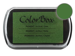 "Purchase a vibrant and creamy grass Colorbox stamp pad. Over 80 colors available!  Non-toxic, archival, acid free, water-soluble pigment ink.  1.8"" x 2.9"""