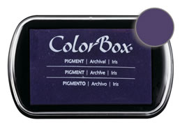 "Purchase a vibrant and creamy iris Colorbox stamp pad. Over 80 colors available!  Non-toxic, archival, acid free, water-soluble pigment ink.  1.8"" x 2.9"""