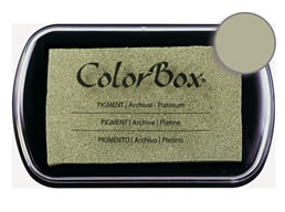 "Purchase a vibrant and creamy platinum Colorbox stamp pad. Over 80 colors available!  Non-toxic, archival, acid free, water-soluble pigment ink.  1.8"" x 2.9"""