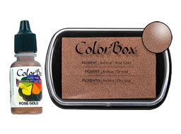 Colorbox Ink Pigment Rose Gold Pad