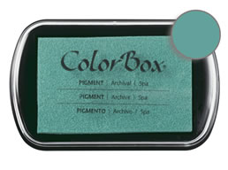 "Purchase a vibrant and creamy spa Colorbox stamp pad. Over 80 colors available!  Non-toxic, archival, acid free, water-soluble pigment ink.  1.8"" x 2.9"""