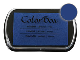 "Purchase a vibrant and creamy tide Colorbox stamp pad. Over 80 colors available!  Non-toxic, archival, acid free, water-soluble pigment ink.  1.8"" x 2.9"""