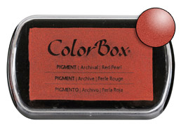 Colorbox Ink Pigment Red Pearl Pad