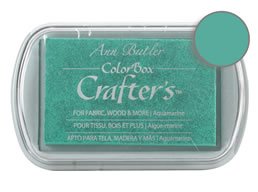 Colorbox Crafter's Ink Fabric Aquamarine Pad