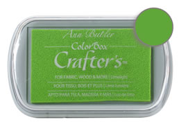 Colorbox Crafter's Ink Fabric limelight Pad