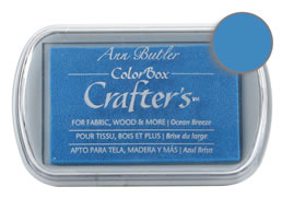 Colorbox Crafter's Ink Fabric Ocean Breeze Pad