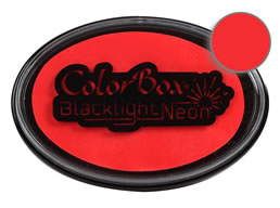 "Purchase a vibrant apple red neon Colorbox stamp pad. Eight different neon and blacklight-friendly colors available!  Fade-resistant and water-resistant.  Inked oval area measures 2 1/4"" x 3 1/4"""