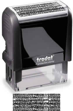 Self Inking Identity Protection Stamp