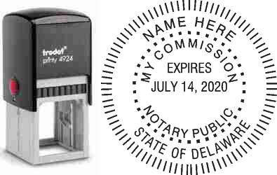 Notary Stamp Delaware
