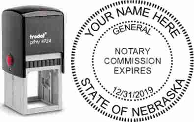 Customize and order a self-inking notary rubber stamp for the state of Vermont.  Meets all specifications and requirements for Nebraska notary stamps. No minimums, fast turnaround, quality guaranteed.