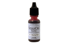 Buy a 1/2 oz. bottle of quick-drying, solvent-based refill ink for a red StazOn stamp pad.