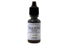 Buy a 1/2 oz. bottle of quick-drying, solvent-based refill ink for a black StazOn stamp pad.