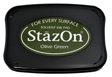 StazOn Olive Green Ink - Stamp pad