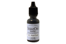 Buy a 1/2 oz. bottle of quick-drying, solvent-based refill ink for a royal purple StazOn stamp pad.