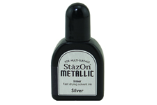 Buy a 1/2 oz. bottle of quick-drying, solvent-based refill ink for a silver StazOn stamp pad.