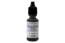 Buy a 1/2 oz. bottle of quick-drying, solvent-based refill ink for a stone gray StazOn stamp pad.