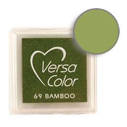 Purchase a vibrant and creamy bamboo Versacolor ink pad. Over 70 colors available!  Non-toxic, child-safe, acid free, water-soluble pigment ink.  Measures 15/16 inches by 15/16 inches.