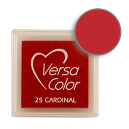 Purchase a vibrant and creamy cardinal Versacolor ink pad. Over 70 colors available!  Non-toxic, child-safe, acid free, water-soluble pigment ink.  Measures 15/16 inches by 15/16 inches.