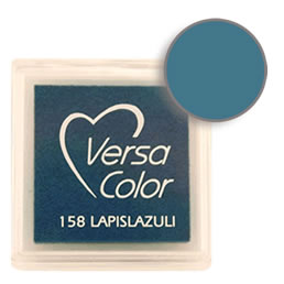 Purchase a vibrant and creamy lapislazuli Versacolor ink pad. Over 70 colors available!  Non-toxic, child-safe, acid free, water-soluble pigment ink.  Measures 15/16 inches by 15/16 inches.