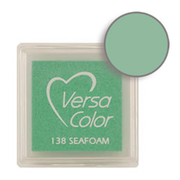 Purchase a vibrant and creamy seafoam Versacolor ink pad. Over 70 colors available!  Non-toxic, child-safe, acid free, water-soluble pigment ink.  Measures 15/16 inches by 15/16 inches.