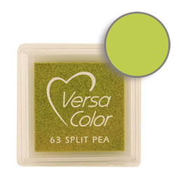 Purchase a vibrant and creamy split pea Versacolor ink pad. Over 70 colors available!  Non-toxic, child-safe, acid free, water-soluble pigment ink.  Measures 15/16 inches by 15/16 inches.