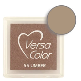 Purchase a vibrant and creamy umber Versacolor ink pad. Over 70 colors available!  Non-toxic, child-safe, acid free, water-soluble pigment ink.  Measures 15/16 inches by 15/16 inches.