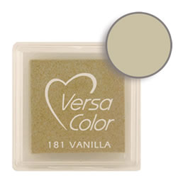 Purchase a vibrant and creamy vanilla Versacolor ink pad. Over 70 colors available!  Non-toxic, child-safe, acid free, water-soluble pigment ink.  Measures 15/16 inches by 15/16 inches.