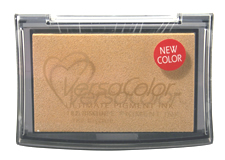 Purchase a vibrant bisque Versacolor stamp pad.  Non-toxic, water-soluble pigment ink.  Measures 2 3/8 inches by 3 3/4 inches.
