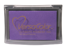 Purchase a vibrant heliotrope Versacolor stamp pad.  Non-toxic, water-soluble pigment ink.  Measures 2 3/8 inches by 3 3/4 inches.