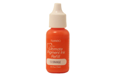 Buy a 1/2 oz. bottle of vibrant pigment-based refill ink for a orange Versacolor stamp pad.