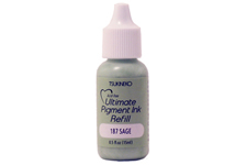 Buy a 1/2 oz. bottle of vibrant pigment-based refill ink for a sage Versacolor stamp pad.