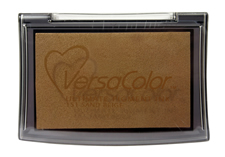 Purchase a vibrant sand beige Versacolor stamp pad.  Non-toxic, water-soluble pigment ink.  Measures 2 3/8 inches by 3 3/4 inches.