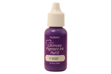 Buy a 1/2 oz. bottle of vibrant pigment-based refill ink for a violet Versacolor stamp pad.