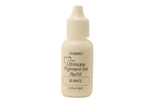 Buy a 1/2 oz. bottle of vibrant pigment-based refill ink for a white Versacolor stamp pad.