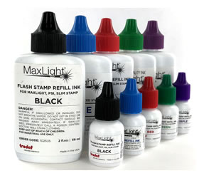 I-Stamp Oil Based Ink Refill Bottles