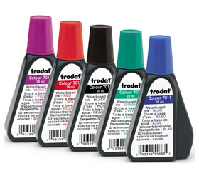Trodat and Ideal Replacement Ink Bottles